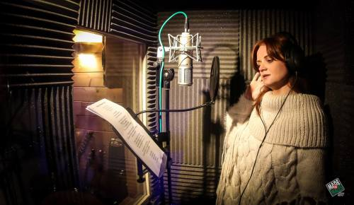 Helen singing xmas charity single